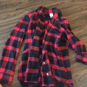 Gap long sleeve flannel size S